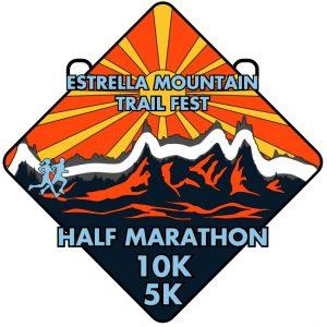 Estrella Mnt Trail Fest Medal.